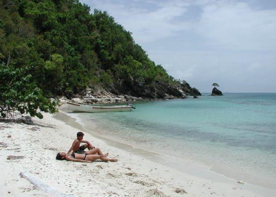 Playa en Cayos Cochinos