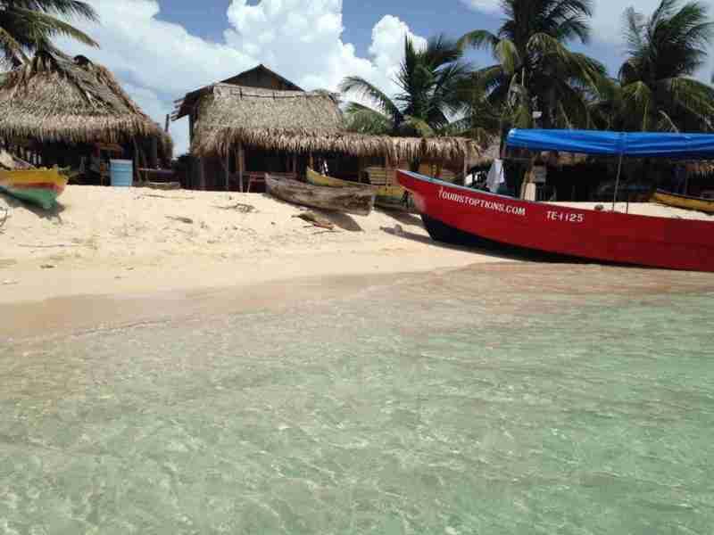Playa en Cayo Chachahuate