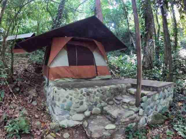 Camping en el rio Cangrejal